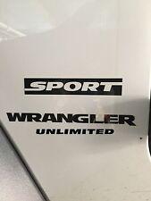 Jeep Wrangler Unlimited Sport Refresh Kit 2006-2014 Vinyl Stickers Decals-black