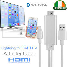 2M 8 pin Lightning to HDMI HDTV AV Cable Adapter For Apple iPhone 6 6S 5S 5 IR
