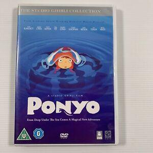 Ponyo (DVD, 2009) Studio Ghibli Liam Neeson Frankie Jonas Noah Cyrus Region 3