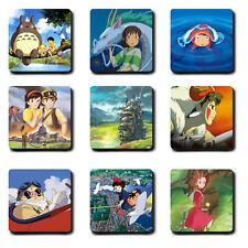 Studio Ghibli - Coasters - Hard wood - Totoro - Spirited Away - Kiki Anime Gift