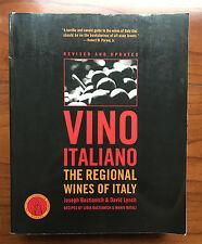 Vino Italiano, by Joseph Bastianich & David Lynch-2005-Signed, 1st Ed. S/C  Book