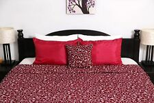 NEW Red and White Print Doona Cover Set - Queen Size