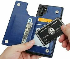 Samsung Galaxy Note 8 9 10 Case Leather Wallet Cover Magnetic Card Money Holder