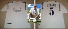 ZINEDINE ZIDANE hand signed autographed Real Madrid Debut Jersey France Legend