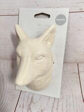 Wall Pocket Décor Opalhouse 2018 White Dog Wolf Vase Magnetic & Nail Hand Option