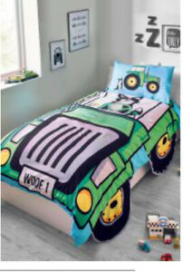 Kids Tractor Single Duvet Bedding Set Next NWT