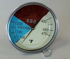 "5"" RWB BBQ CHARCOAL GRILL WOOD SMOKER OVEN PIT TEMP GAUGE THERMOMETER 4"" STEM"