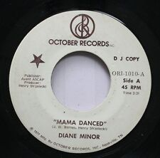 Hear! Northern Soul Mod Jazz Promo 45 Diane Minor - Mama Danced / Sunny On Octob