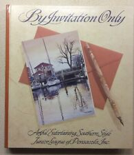 """""""By Invitation Only"""" -Jr League Pensacola Cookbook (2002, Hardcover)- Like New"""
