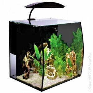 AquaOne Arc 46 Litre Fish Tank Aquarium w/ Internal Filter & Light