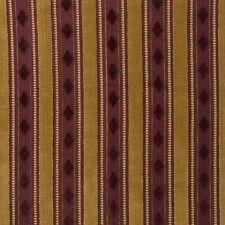 Lee Jofa Belgium Essex Velvet 100% Cotton Aubergine Gold Stripe