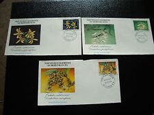 NOUVELLE CALEDONIE - 3 env 1er jour 16/2/1983 timbre yt n° 466 a 468 (cy22)