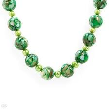 pearls and Simulated gems 23in Attractive Necklace With Mother of