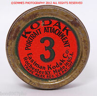 KODAK #3 PORTRAIT ATTACHMENT OLD FILTER W/metal case nice collectible FREE SHIP