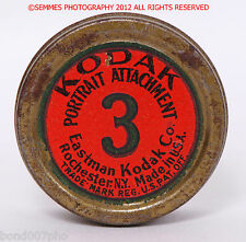 KODAK #3 PORTRAIT ATTACHMENT OLD FILTER W/metal case nice collectable FREE SHIP