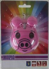 MOUSE OTTICO USB A FORMA DI PORCELLINO- PIG ROSA MOIPIG MAIALE MAIALINO