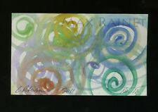 Listed Artist = C PETERSON = ACEO ART PAINTING =Watercolor ABSTRACT Swirls No 10