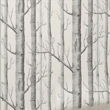 Black White Woods Wallpaper Roll Birch Tree Forest Modern Art