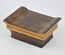 Boîte à bijoux en palissandre Marqueterie Napoleon III 19ème