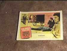 THREE HOURS TO KILL 1954 LOBBY CARD #2 DONNA REED