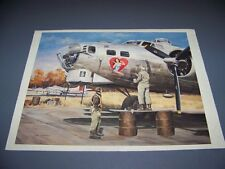 """VINTAGE..B-17 """"QUEEN OF HEARTS"""" SCENE....1-PAGE ARTIST PAGE ...RARE! (847L)"""
