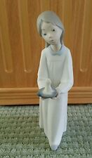 Vintage Llardo Figurine Girl/Young Lady carrying candle.