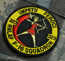 ROYAL NETHERLANDS AIR FORCE RNLAF F-16 DEMO TEAM 323 SQN PILOT burdock PATCH