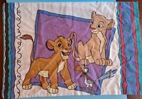 Disney two sided Pillowcase Lion King Simba Nala Pumbaa Bright Color USA Vintage