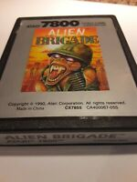 Atari 7800 Alien Brigade Cartridge TESTED WORKING  Atari Age 6 Rare+  NTSC