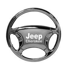Jeep Cherokee Black Chrome Steering Wheel Keychain OLP Lifetime Warranty