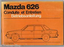 Betriebsanleitung MAZDA 626, 1978