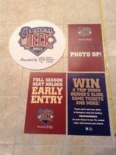 2011-2014 Milwaukee Miller Park Stadium Game Used Season Seat Holder Sign Lot