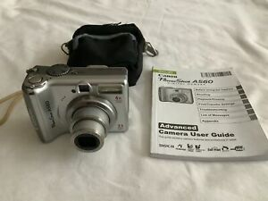 Canon PowerShot A560 7.1MP Digital Camera 4x Optical Zoom- Silver 4GB TESTED (A)