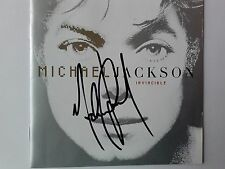 Michael Jackson RARE Signed Invinsible CD Original Autograph