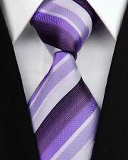 Purple, Mauve, Lavender & Plum Silk Classic Woven Horse Show Tie *New*