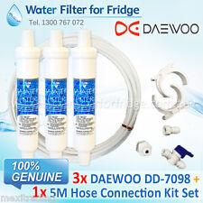 3x Daewoo External Fridge Water Filter DD-7098 + 5M 1/4 inch Hose Kit Set