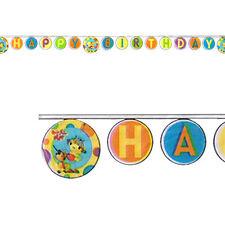 ROLIE POLIE OLIE HAPPY BIRTHDAY BANNER ~ Party Supplies Decorations Disney Jr
