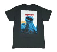 Sesame Street Cookie Monster Munchies Funny 420 Tee Mens T Shirt M-2XL