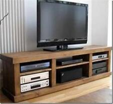 New Real Solid Wooden TV  Entertainment Unit Chunky Rustic Plank Pine Furniture