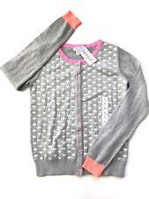 NWT Girls cardigan sweater Hearts Gray Pink, Sz XL (14-16), NEW!💗