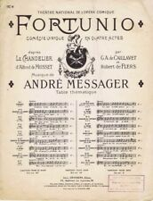 Fortunio, Comedie Lyrique En Quatre Actes, 1907 antique music