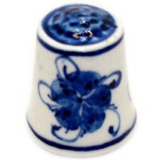 Dé à coudre collection - Dé à coudre en porcelaine peint à la main/ Gzhel Russie