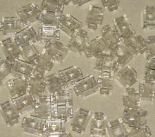 LEGO LOT OF 50 NEW TRANSPARENT CLEAR HEADLIGHT MODIFIED 1 X 1 PIECES PARTS