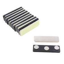 ExcelMark 10 Name Badge Magnets with 3 Premium Strength Neodymium Magnets