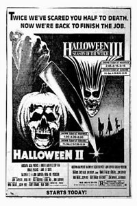 HALLOWEEN Horror Movie, Michael Myers 8x10 Gloss Print Of Vintage RI Drive In Ad