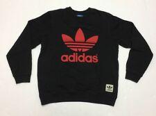 SALE !!HURRY!Adidas trefoil Spellout Sweater Crewneck Front/Back Print Retro Rap