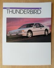 FORD THUNDERBIRD orig 1993 Canadian Mkt Sale Brochure Catalogue - Super Coupe LX