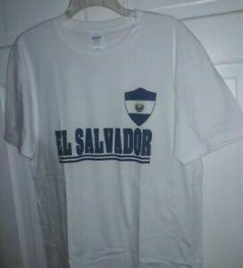 República de El Salvador Patriotic Flag shield T-Shirt bandera camiseta NEW - L