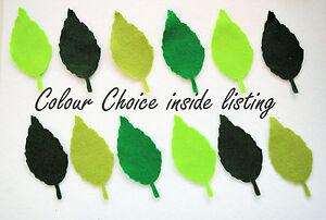 Felt Leaves Leaf Die Cuts Green Summer Button Hole Embellishment Topper Craft
