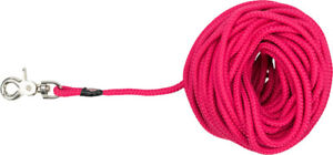 Pink Tracking Dog Puppy Training Long Lead Woven Sail Round Rope 5m 10m 15m 20m